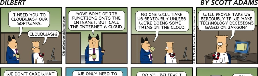 What I used to think when I heard someone talk about the cloud
