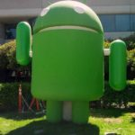 A green Android robot