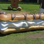 An éclair pastry