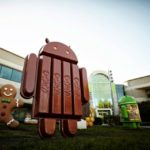 A Kit Kat bar in the shape of the Android robot