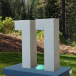 """Augmented Reality version of an """"11"""" statue with the Android logo between the two digits"""
